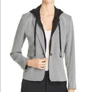 KENNETH COLE Combo layered Hoodie Blazer